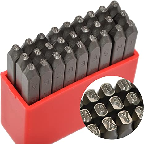 Wokesi 0.75mm Uppercase Number Punch Stamps Set for Jewelry Gold 0-9 Jewelry Stamps