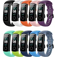 Yaspark Strap Honor Band 5/Honor Band 4 Strap, Siliconen Sport Polsband Vervanging Polsband voor Honor Band 4 Strap…
