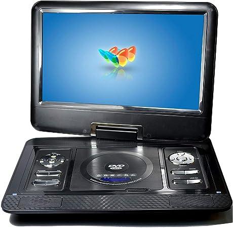 Reproductor De DVD Portátil, 13.3 Pulgadas HD 800 * 480 Resolución Pantalla LCD TV Reproductor De DVD Portátil, Puede Recibir Fácilmente Canales De Televisión Por Cable, Admite La Función De Radio FM: Amazon.es: Hogar