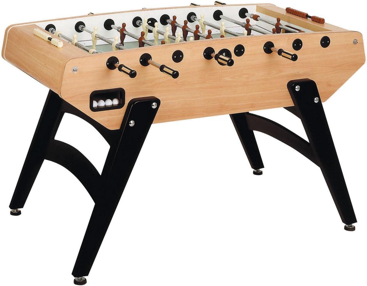 Garlando G-5000 interior futbolín con barras telescópicas, con patas, Abacus puntuación y 10 bolas de estándar., Wood Grain: Amazon.es: Deportes y aire libre