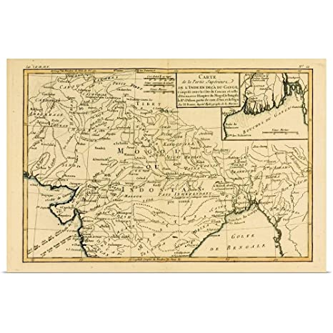 Amazon Com Greatbigcanvas Poster Print Entitled Map Of Northern