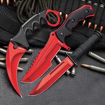 Amazon.com: 3 unidades CSGO de juego de cuchillos en rojo ...