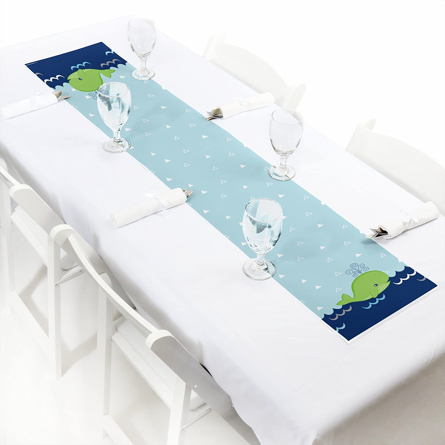Tale of A Whale Petite Baby Shower or Birthday Party Paper Table Runner 12 x 60