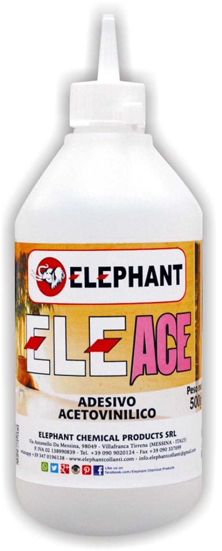 Colla acetovinilica ELEACE - Adesivo a solvente | Flacone da 500gr ELEPHANT CHEMICAL PRODUCTS SRL (Unipersonale)