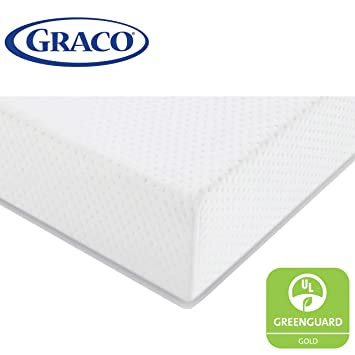 newest 48b72 05156 Graco Premium Foam Crib and Toddler Mattress in a Box – GREENGUARD Gold  Certified, Non-Toxic, Breathable, Removable Washable Water Resistant Outer  ...