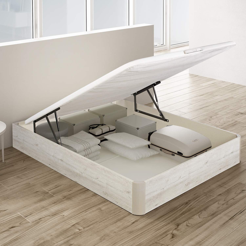PIKOLIN, canapé abatible de almacenaje Color Gris Glaciar 150x190, Servicio de Entrega Premium Incluido