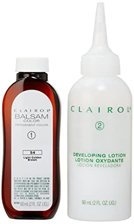 Amazon.com : Clairol Balsam Hair Color, Light Golden Brown (54) : Chemical Hair Dyes : Beauty