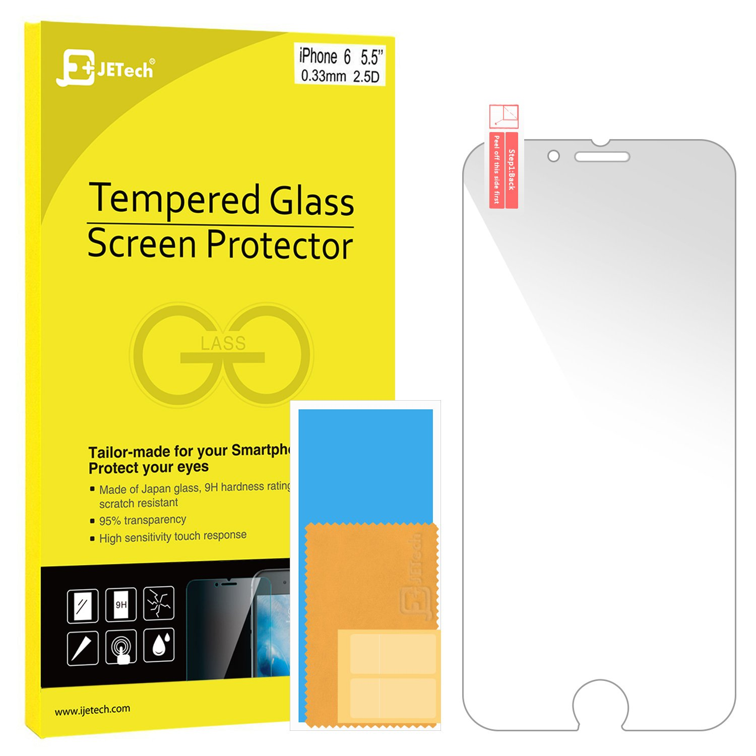 Iphone 6S Plus Screen Protector Jetech [3D Touch Compatible] Premium Tempered.. 12