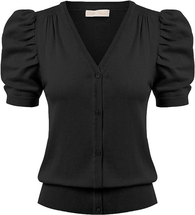 Belle Poque Women Short Sleeve Knit Cardigan