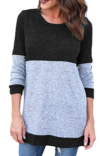 La Mujer Otoño Invierno De Punto, Patchwork Camisa Suéter Tops