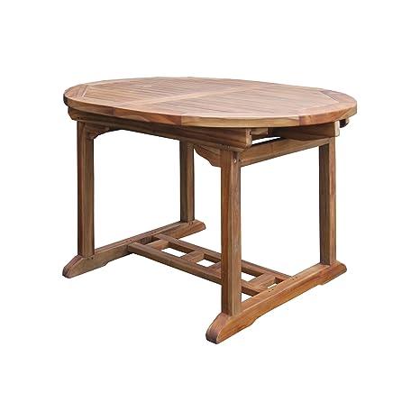 Tavoli Da Esterno In Teak.Tavolo Da Giardino Allungabile In Legno Teak Amazon It