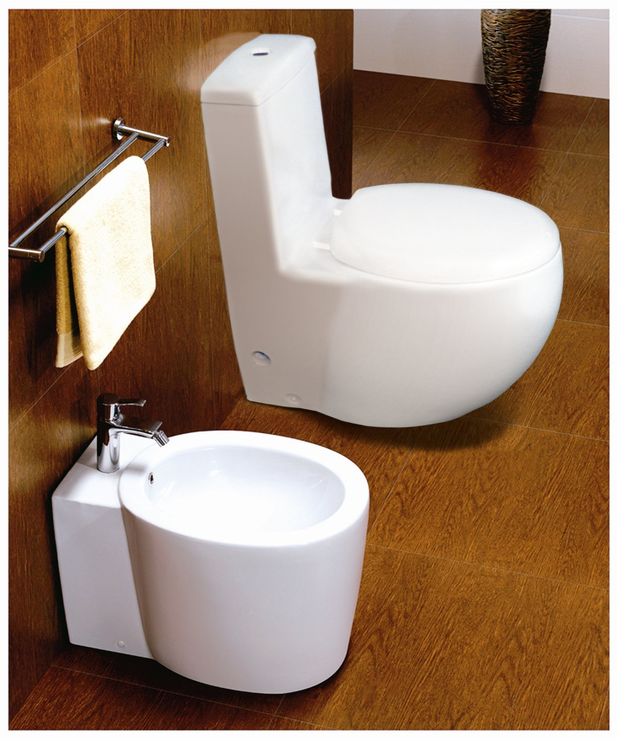 Euroto Luxury Toilet for Bathroom Toilet Bowls, Toilets, and Toilet Seats. Smart Toilet (Compact Elongated, Dual Flush(Siphonic)) by EUROTO (Image #5)