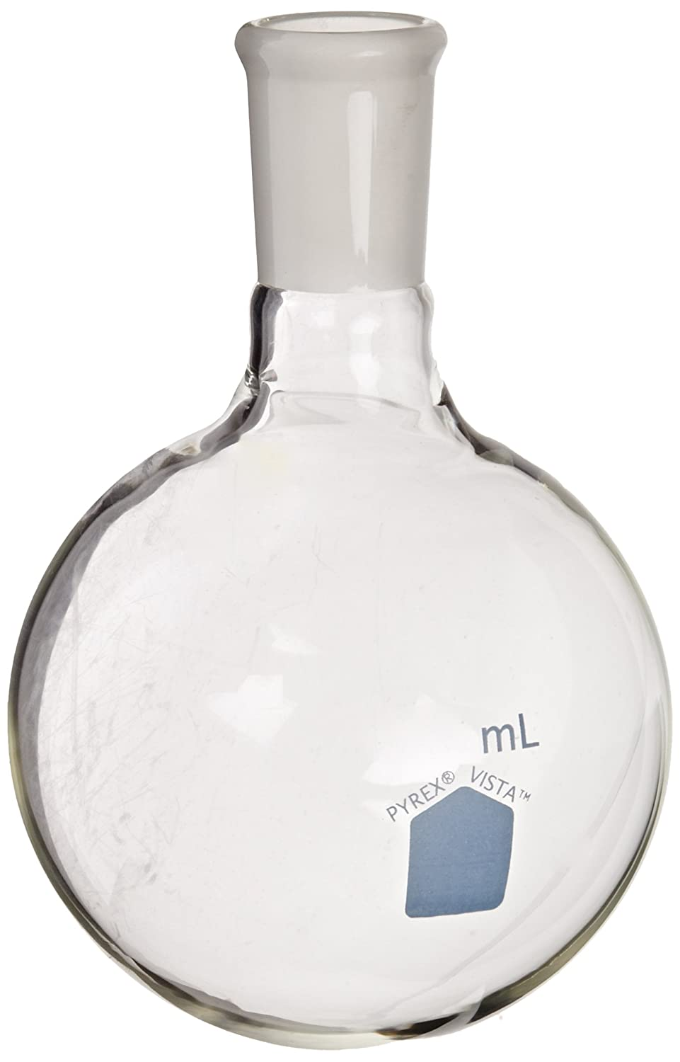 Corning Pyrex Vista Borosilicate Glass Short Neck Round Bottom Boiling Flasks with 24//40 Standard Taper Joint Case of 4 500ml Capacity