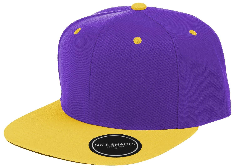 Nice Shades Plain Adjustable Snapback Hats Caps (Many Colors)
