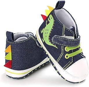 Chaussures en Coton de Prefactrices pour Bebe Fille Garcon 0-6 BOBORA Baskets Bebe 6-12 12-18Mois