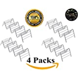 Taco Holder 4 Pack Stainless Steel Taco Stand Taco Rack Space for 12 to 16 Hard or Soft Shell Tacos by Kitchenistry