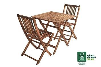 Sam® Set de balcon 3 pièces en bois d\'acacia avec Groupe de jardin ...