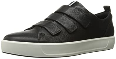 ECCO Men's Soft 8 3-Strap Fashion Sneaker, Black, 39 EU/5