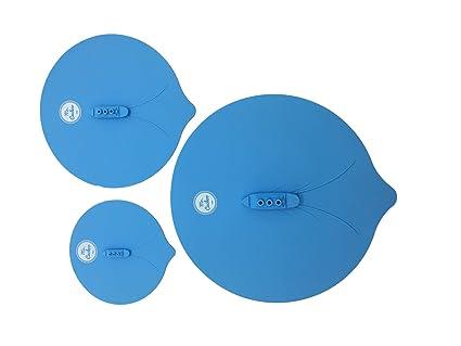 MrCuckoo Set Kit 3 Tapas Silicona Barco Vapor Divertidas Para Ollas Cacerolas Sartenes Válidas Para Lavavajillas