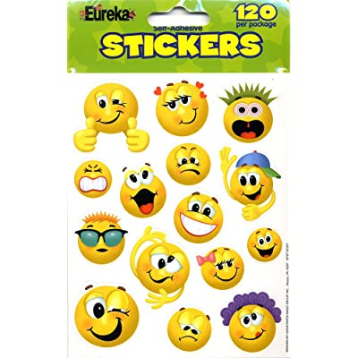 Eureka Emoticons Stickers, 120 Per Pack: Office Products