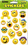 Amazon Price History for:Eureka Emoticons Stickers, 120 Per Pack