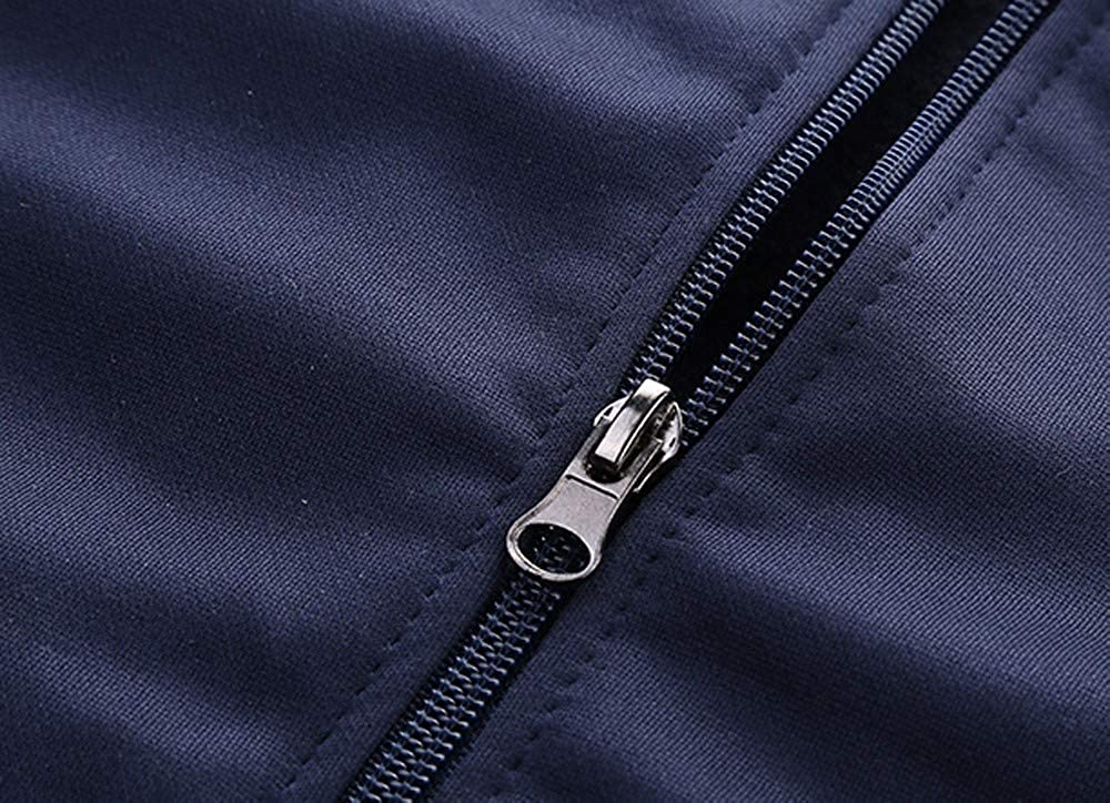 2 pcs Mens Sportswear Tracksuit Zipper Jacket Long Pants Suit Autumn Winter Sweatshirt Sport Sets Running Workout Gym Long Sleeve Casual Suit Pullover Jumper Outfit