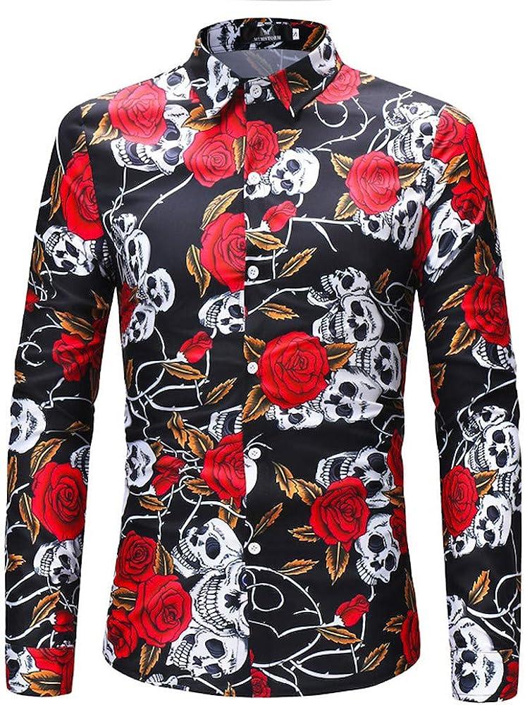Poachers Camisas Hawaianas Hombre Tallas Grandes Camisas de Hombre Estampadas Camisas Hombre Manga Larga de Vestir Camisetas Hombre Originales Camisas Hombre Verano Flores: Amazon.es: Ropa y accesorios
