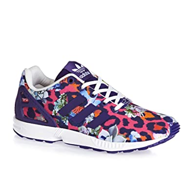 1f626e097 denmark adidas originals womens zx flux leopard 472d6 9df4a  where to buy adidas  originals zx flux youth cheetah print purple textile 6 m us big