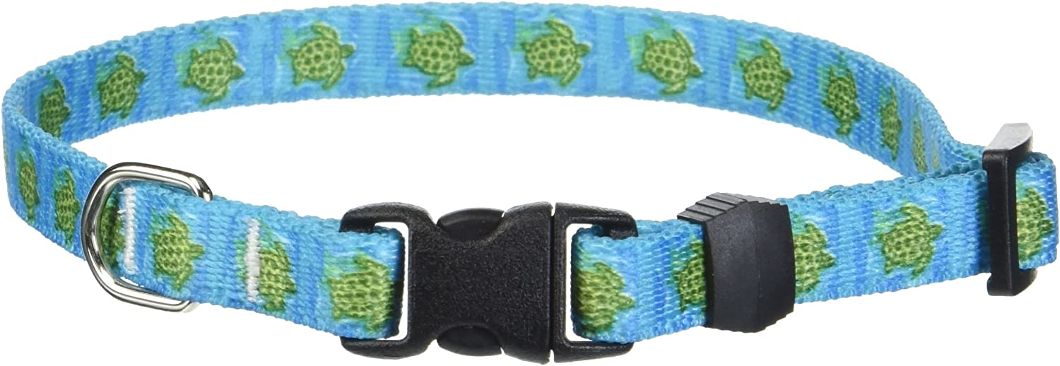 Yellow Dog Design Sea Turtles Dog Collar-Size X-Small-3//8 inch Wide and fits Neck Sizes 8 to 12 inches