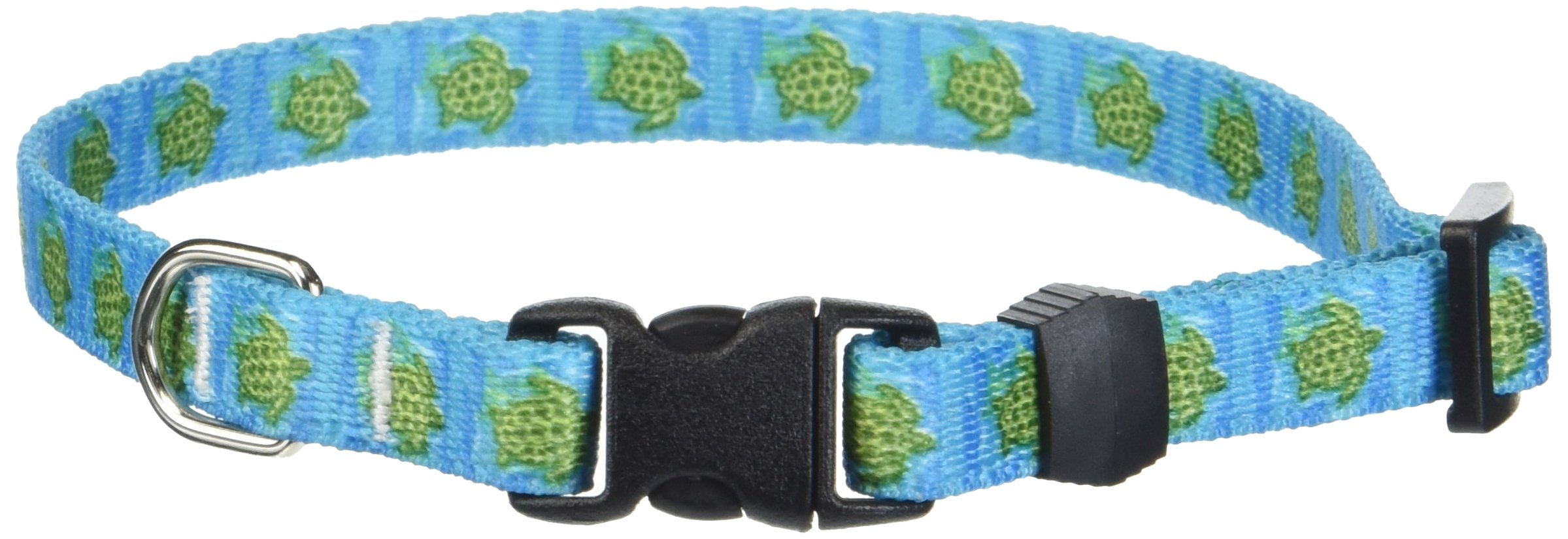Yellow Dog Design Sea Turtles Dog Collar-Size X-Small-3/8 inch wide and fits neck sizes 8 to 12 inches