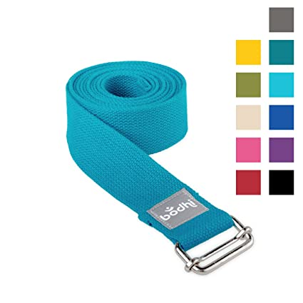 Cinturón de yoga Asana Belt de algodón con hebilla de metal ...