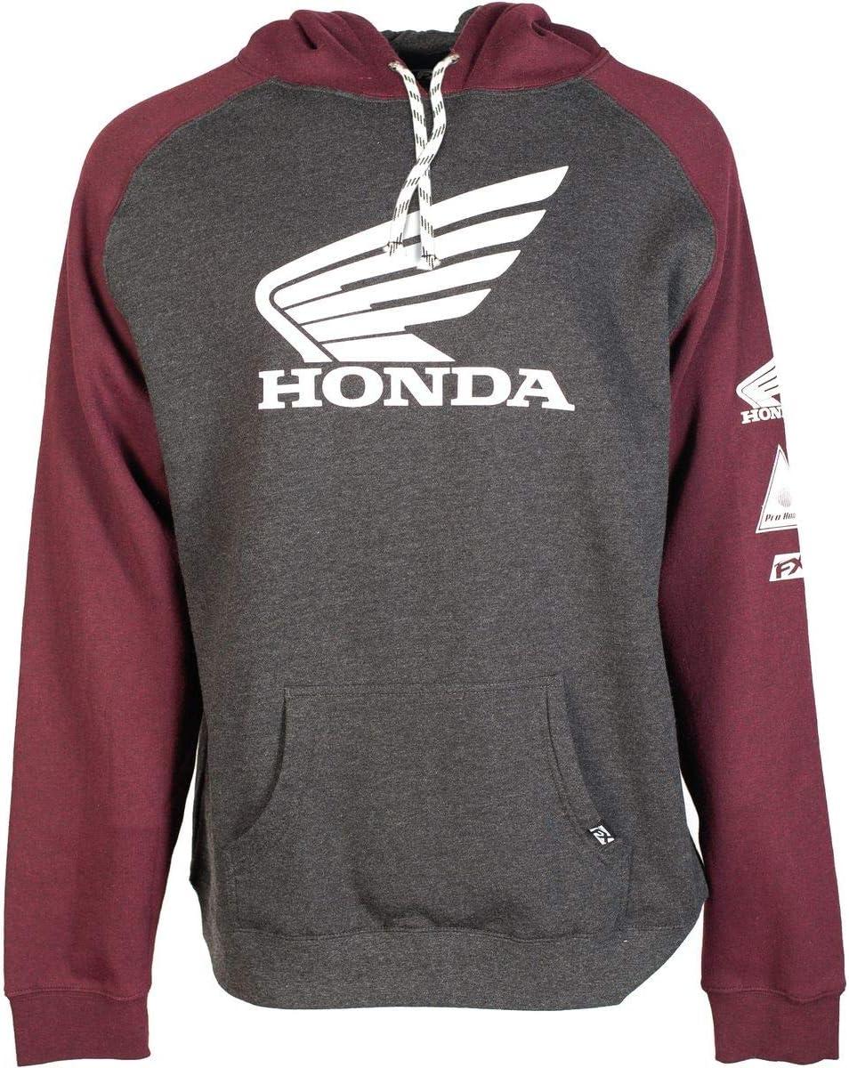 Factory Effex 15-88370 Honda Horizontal Hooded Pull-over Sweatshirt Black, Medium