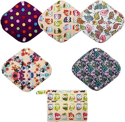 Cloth Menstrual Pads Pantyliner Cloth Pads Liner Cloth Pads Reusable Cloth Pads 9 Panty Liner Pink Christmas Christmas Cloth Pads