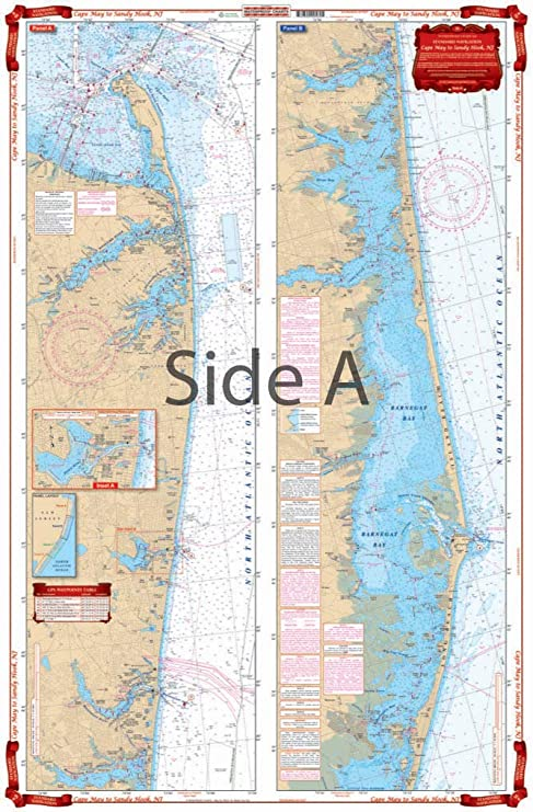 Amazoncom Waterproof Charts Standard Navigation 56 Cape May To