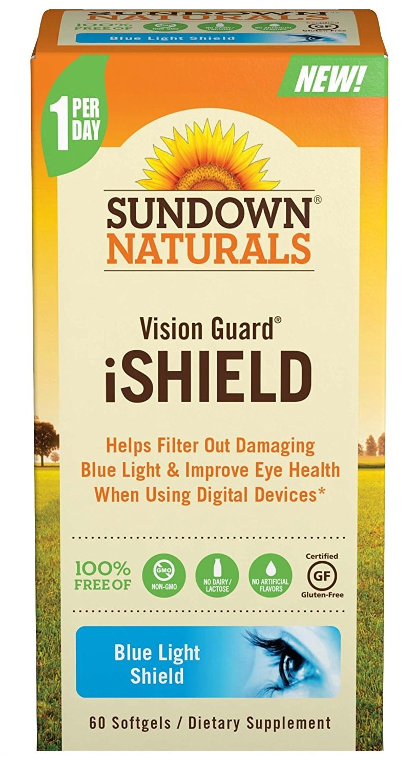 Sundown Naturals Vision Guard iShield Softgels, 60 Count (Pack of 5)