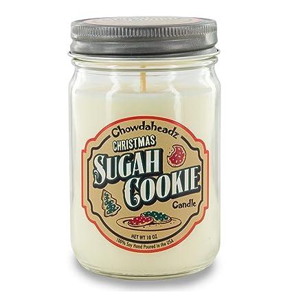 Sugah de Navidad galletas vela 100% de soja, All Natural, fabricado en el
