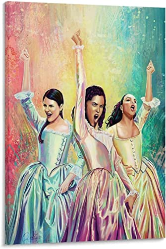 Hamilton Animatic Schuyler Sisters Poster Decorative Painting Canvas Wall Art Living Room Posters Bedroom Painting 24x36inch 60x90cm