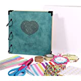 FaCraft 8x8 Scrapbook Album Heart Printed with Gift Box