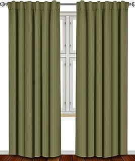 Blackout Room Darkening Curtains Window Panel Drapes