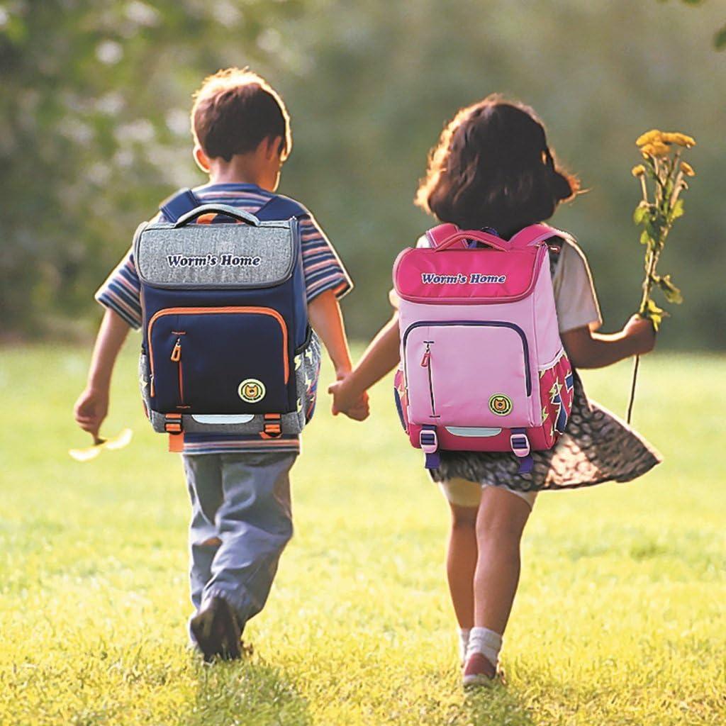 Childrens backpack school light 6-12 year old childrens shoulder bag burden backpack