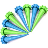 Automatic Garden Cone Watering Spike Water Control Drip Cone Spike Flower Plant Waterers Bottle Irrigation System Care Your Flowers,Pack of (8)