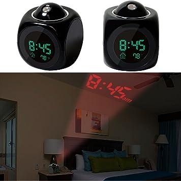 Amazon.com: iMounTek – Reloj despertador LED de pared/techo ...