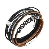 Jenia Black Leather Rope Braided Bracelet - Women