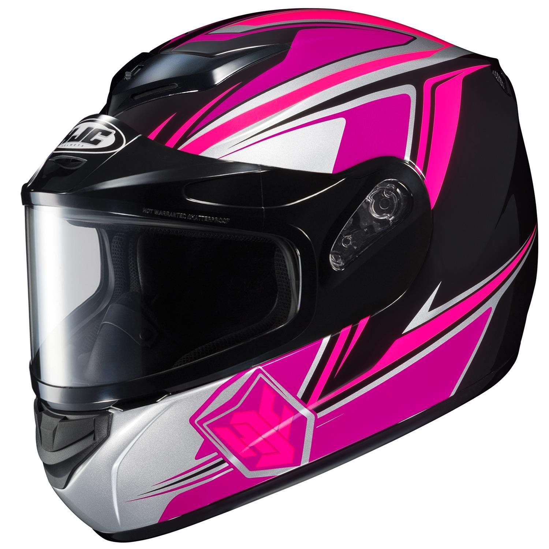 HJC CS-R2SN Seca Full Face Snow Helmet Framed Dual Lens Shield (MC-8 Pink, Small) by HJC Helmets