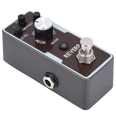 Micro Digital Reverb Guitarra Efecto Pedal Seco/Mojado Modos True Bypass