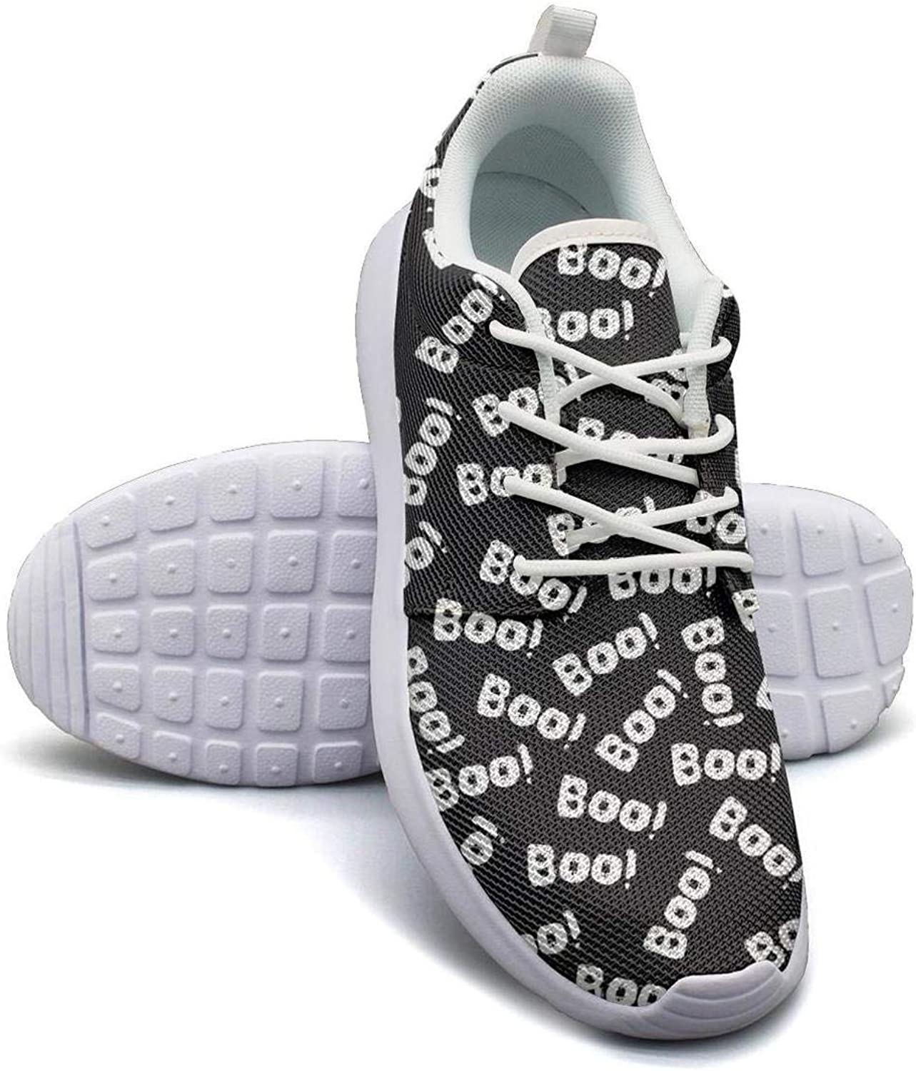 Halloween Boo Goust Womens Lady Canvas Breathable Casual Shoes Sneakers