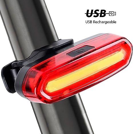 USB Batería para bicicleta cola light-super brillante 120 lumens ...