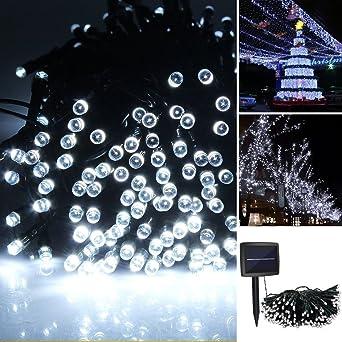 iRegro 100 LED al aire libre solar de cadena ligera impermeable accionada Hada de iluminación de