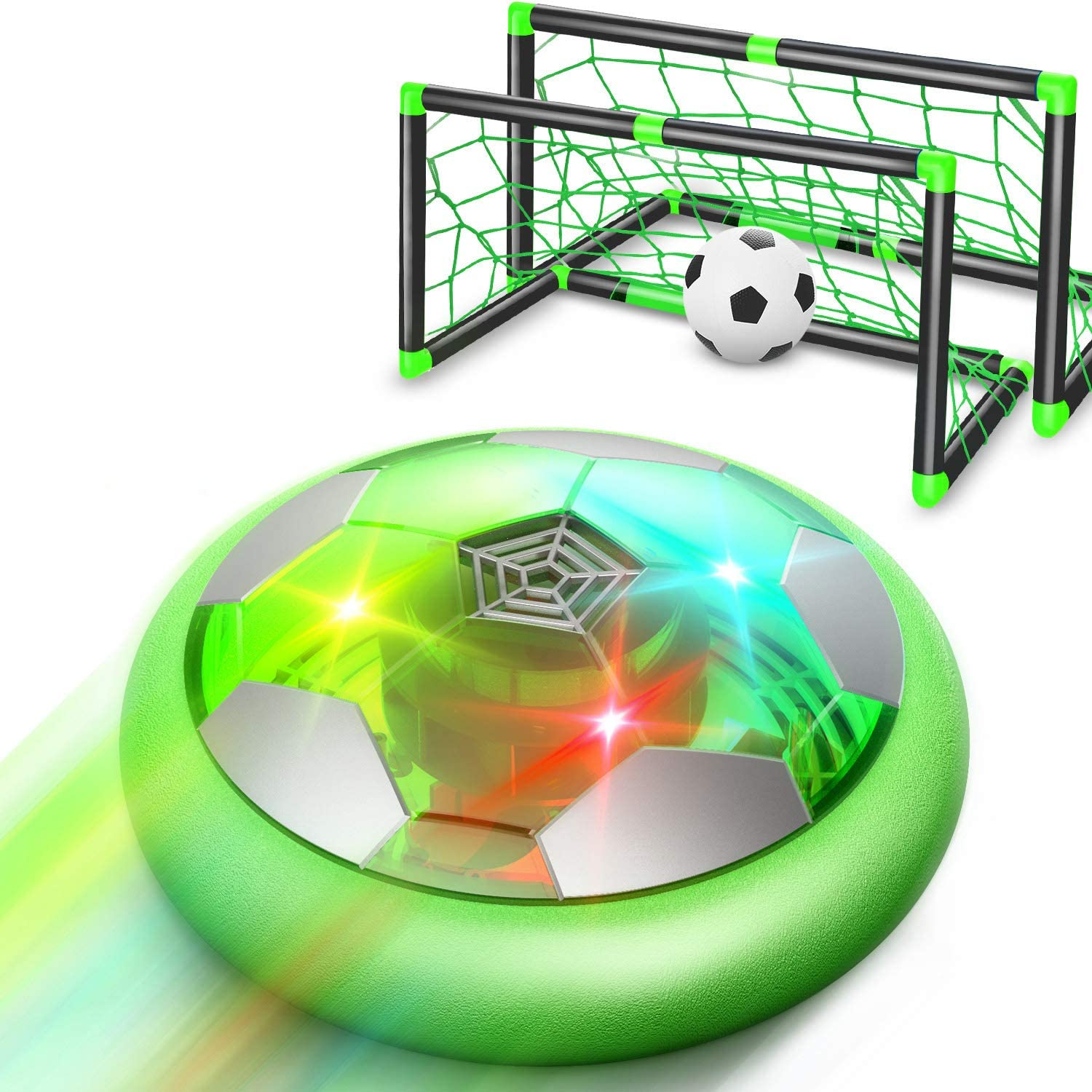 WisToyz Hover Soccer Ball Set Rechargeable Hover Soccer Set with Goals & Nets, Indoor Hover Soccer & Rubber Soccer Ball Included, Soccer Net Hover Soccer Set for Backyard, Toys for Boys Girls Kids: Toys & Games