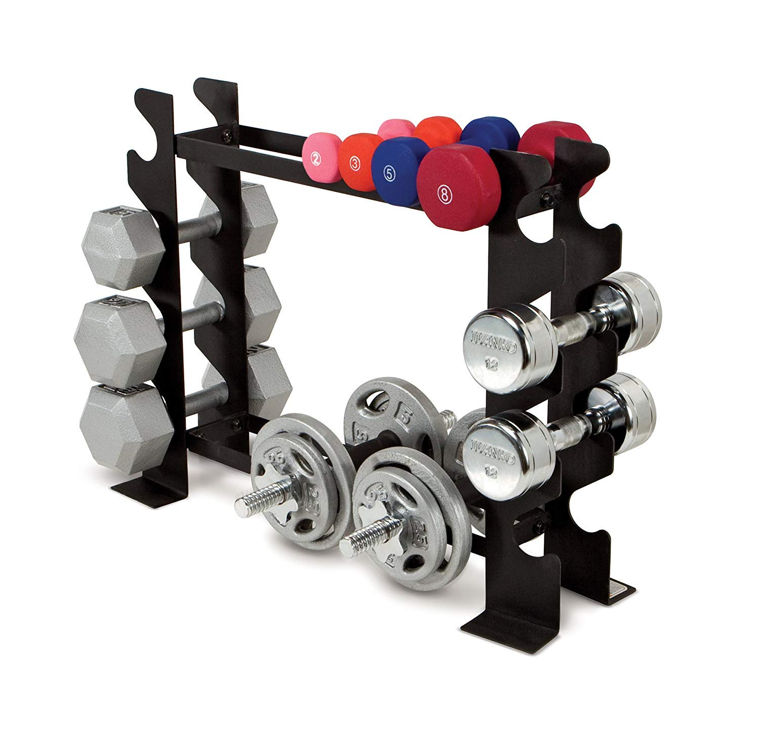 Marcy compact dumbbell rack free weight stand for home gym dbr